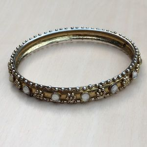 Vintage gold sparkly bangle